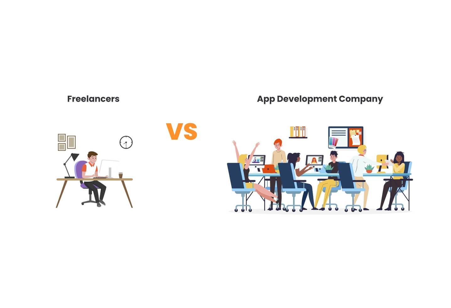 App development cost - freelancers vs. development companies